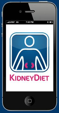 KidneyDiet is a smartphone app that helps people with kidney disease make better decisions about their diet.