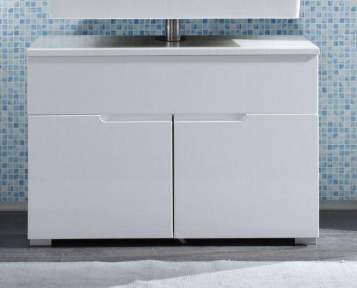 Waschbeckenunterschrank weiss Hochglanz Badezimmer Unterschrank Woody 32-00073 | eBay