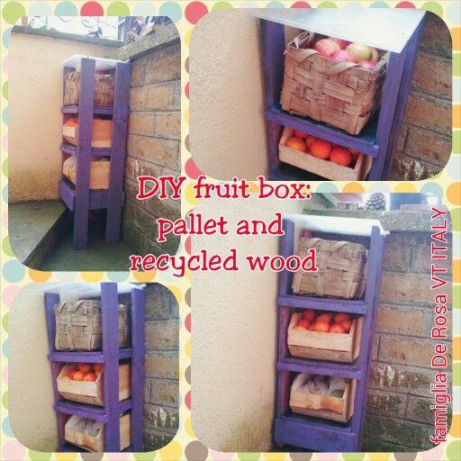 DIY fruit box: pallet and recycled wood / FAIDATE portafrutta: pallet e legno riciclato - Elena De Rosa & Novella Brizi #palletproject