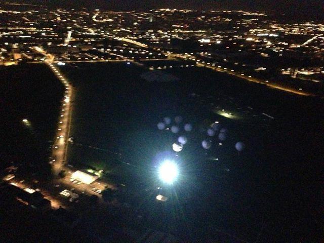 Taking off from the 2013 Gordon Bennett Gas Balloon Race