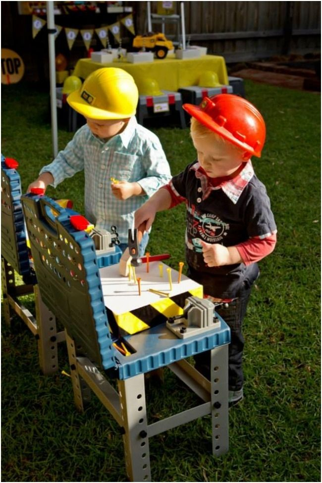 Games for Construction Themed Boys Birthday Party www.spaceshipsandlaserbeams.com
