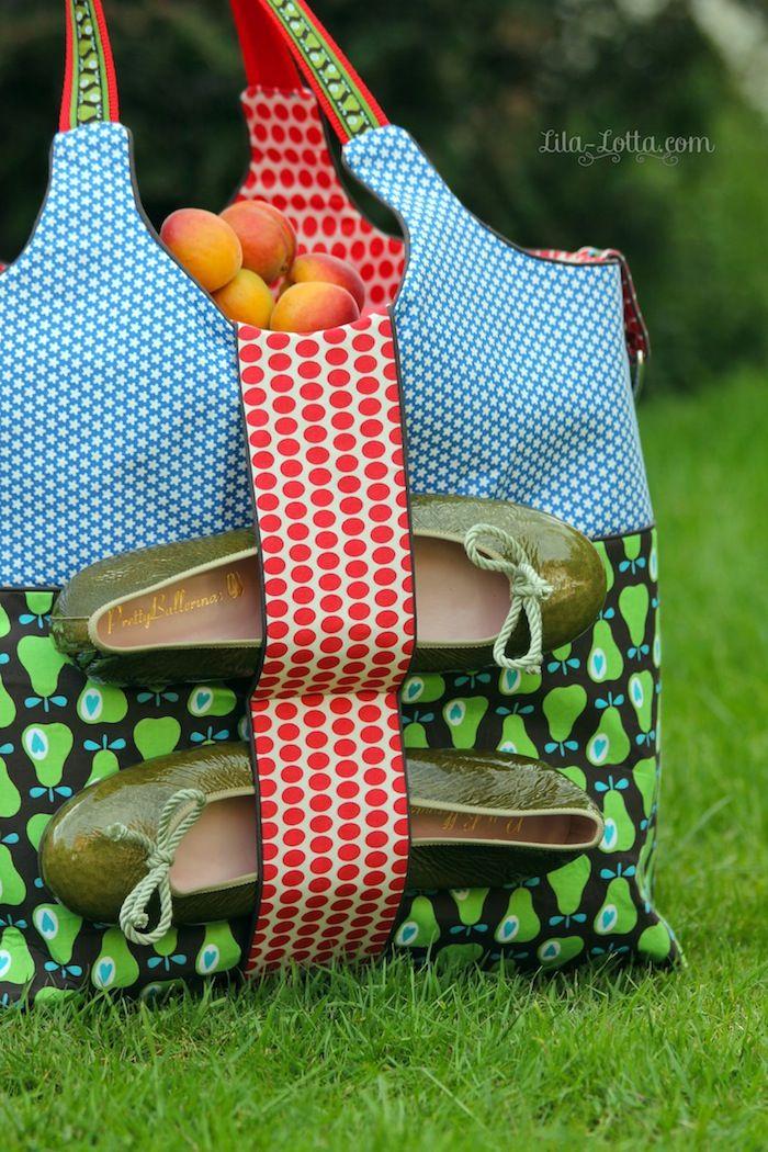 Mein SIMPLY-Outfit für den Sommer und für den Strand, und dann möchte ich eure Äpfel und Birnen sehen... love the fabrics
