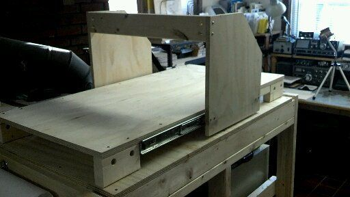 """I have wanted to build a CNC machine for years. I've finally gotten around to it but am keeping the cost and complexity as low as possible. While using drawer slides is not the best method I wanted to play around with them and see how they would work.  I've built the first part of this project using plywood from a local hardware store and the drawer slides from Lowes. The drawer slides that I used were 18"""". I will probably mov..."""