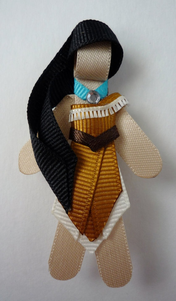 Pocahontas Hair Clip by TakeABow Handcrafts. $8.50