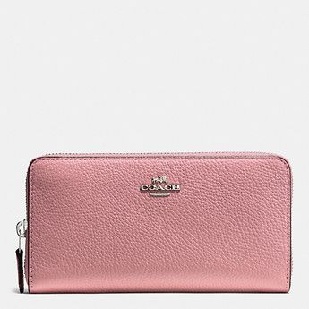 ACCORDION ZIP WALLET IN POLISHED PEBBLE LEATHER - Coach Australia