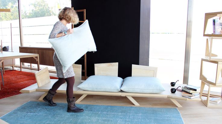 A special coating prevents the cushions from sliding along the wooden surface.
