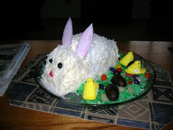 EASY EASTER BUNNY CAKE « The Southern Lady Cooks – Cakes and ...