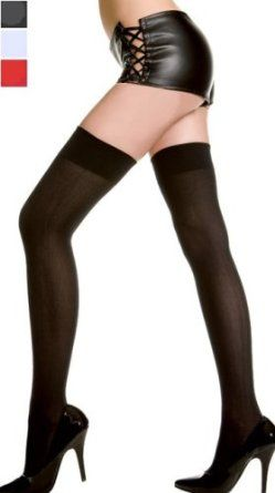 Opaque Thigh High, White,$3.54