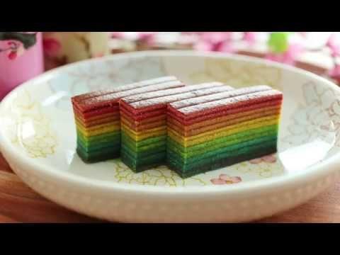 Rainbow Kueh Lapis | Whisk n Fold