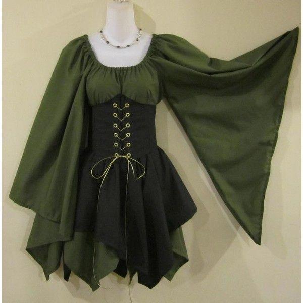 Wood Elf Cincher Set - renaissance clothing, medieval, costume found on Polyvore