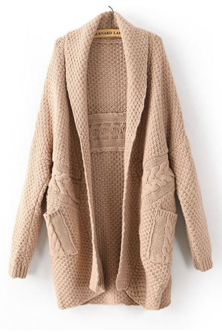 Large Version twist weave sweater cardigan by Voguec