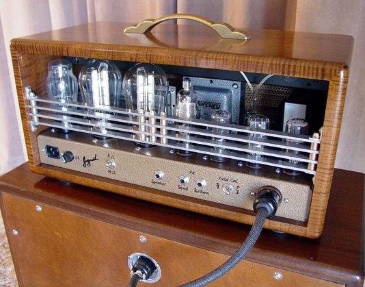 Custom Made Sound King Tube Amplifier by Siegmund Guitars & Amplifiers | Class A 30 Watt 300B tube guitar amplifier with custom options. Field Coil speaker and Magic Eye. | CustomMade.com