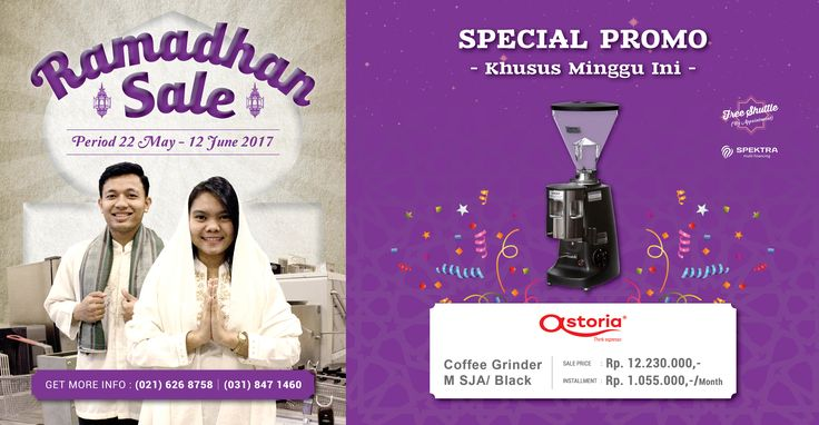 Ramadhan Sale special promotion price for Astoria Coffee Grinder M SJA / Black, price start from Rp.1.055.000,-/month #ramadhansale #astoria
