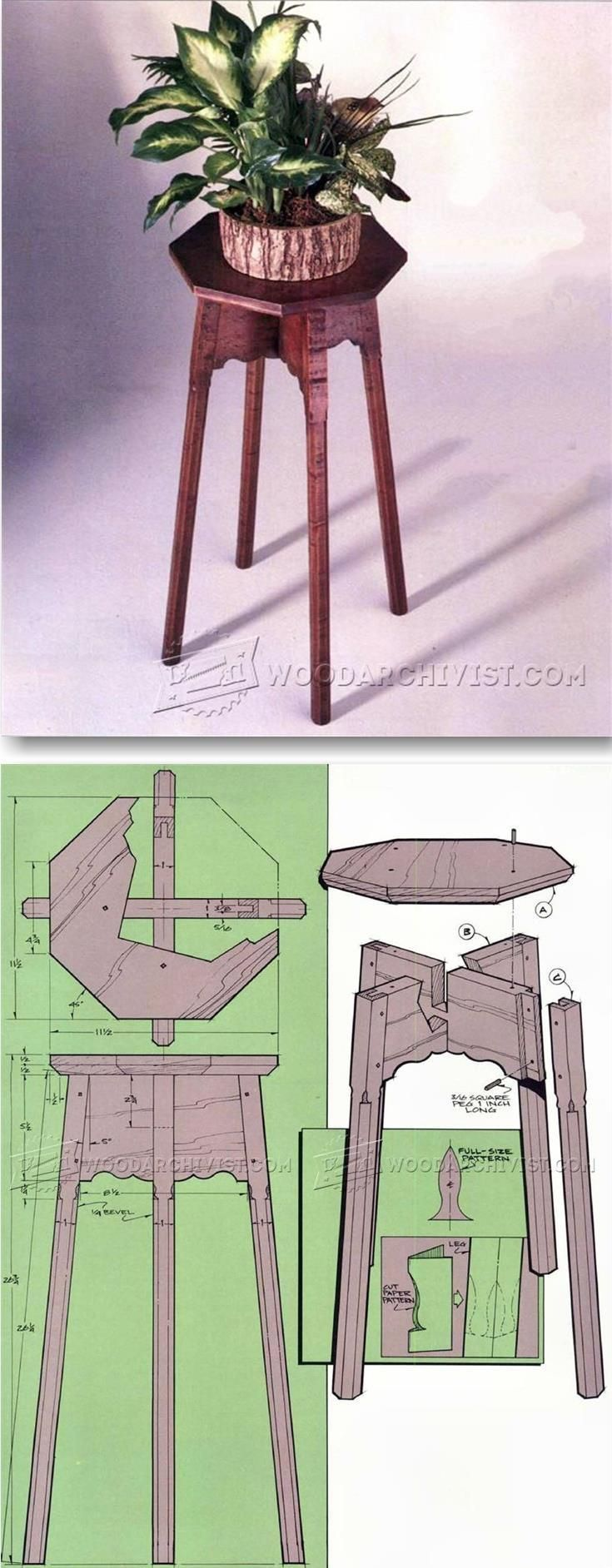 Build Plant Stand - Furniture Plans and Projects | WoodArchivist.com