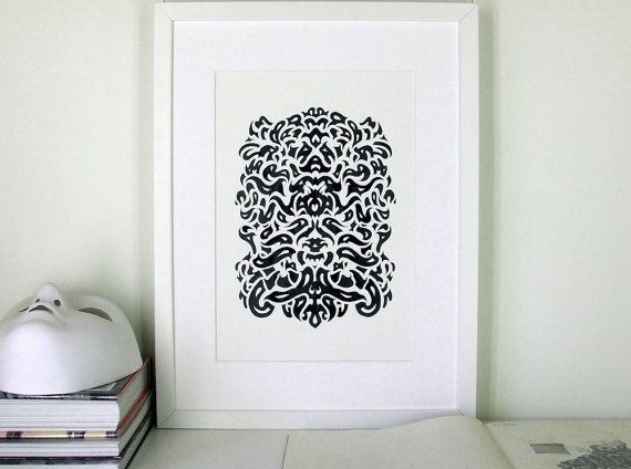 Maschera original ink drawing by smokov on Etsy, $50.00