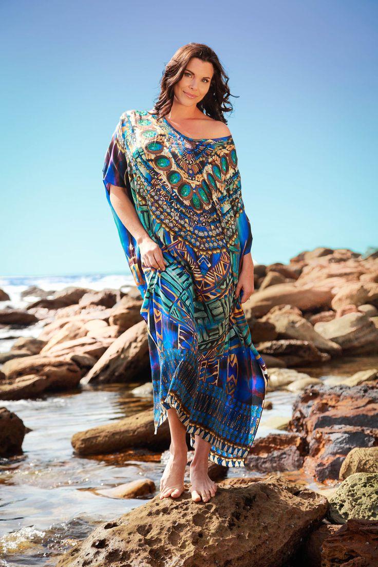 Eco Diva Aegean Queen Long Kaftan $289 #sustainablefashion