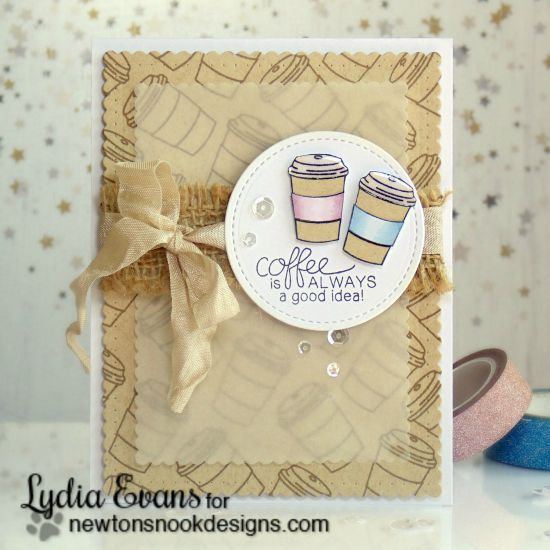 Coffee Card by Lydia Evans | Newton Loves Coffee Stamp set by Newton's Nook Designs #newtonsnook #coffee