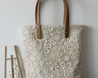 ~~~~~~~~~~~~~~~~~~~~~~~~Item Introduction~~~~~~~~~~~~~~~~~~~~~~~~  Handmade cotton lace bags, wedding bags. Very shabby chic and vintage look. Originally designed. Not from manufacture so you cannot find them anywhere else. Can be used for work, leisure and/or shopping. Perfect gift to bridesmaids! Please inquire before making the order. It takes 20 business days to make on the top of handling and processing.  ~~~~~~~~~~~~~~~~~~~~~~~~~~~Parameter~~~~~~~~~~~~~~~~~~~~~~~~~~  Fabric:  Front...