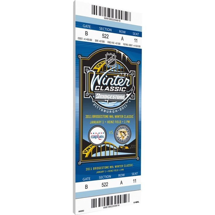 That's My Ticket 2011 Winter Classic Pittsburgh Penguins v. Washington Capitals Game Ticket, Team