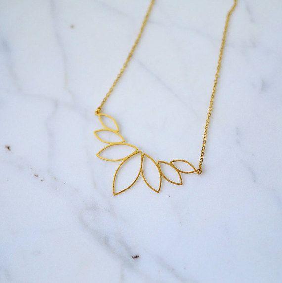 Golden Lotus Necklace
