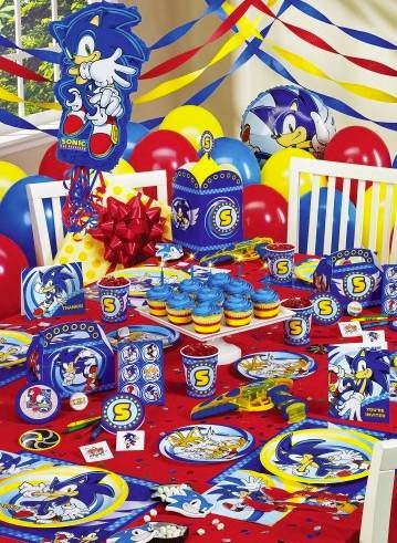 sonic party decorations