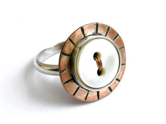 Ring Sterling Silver Copper Eco Friendly by LigiaRocha on Etsy, $50.00