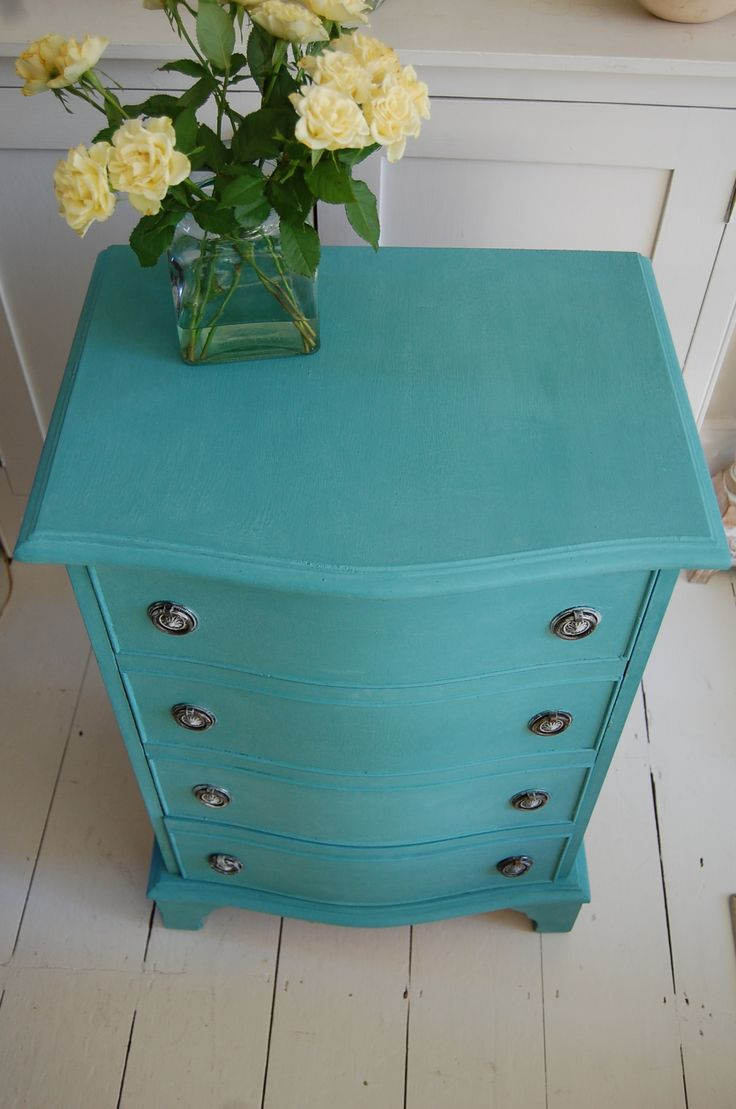 Annie sloan antoinette chalk paint 174 - Annie Sloan Paloma With Antibes Green Painted Furniture Provence Blue Antibes Green Chalk