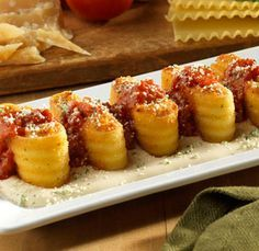 Lasagna Fritta (fried lasagna) like the Olive Garden appetizer. had this, this past weekend and it was to die for!