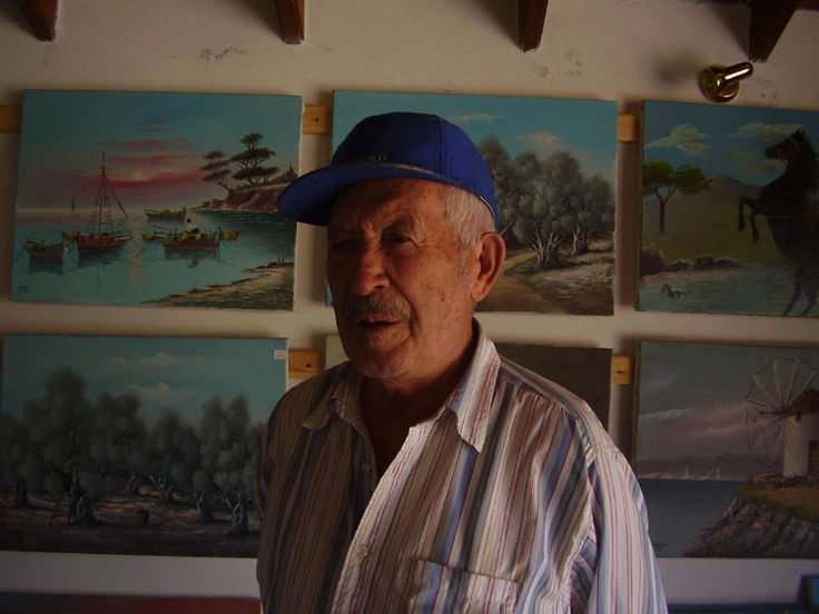 Panagos Malamelis,my father,he was an artist,he loved to paint the Greek countryside.