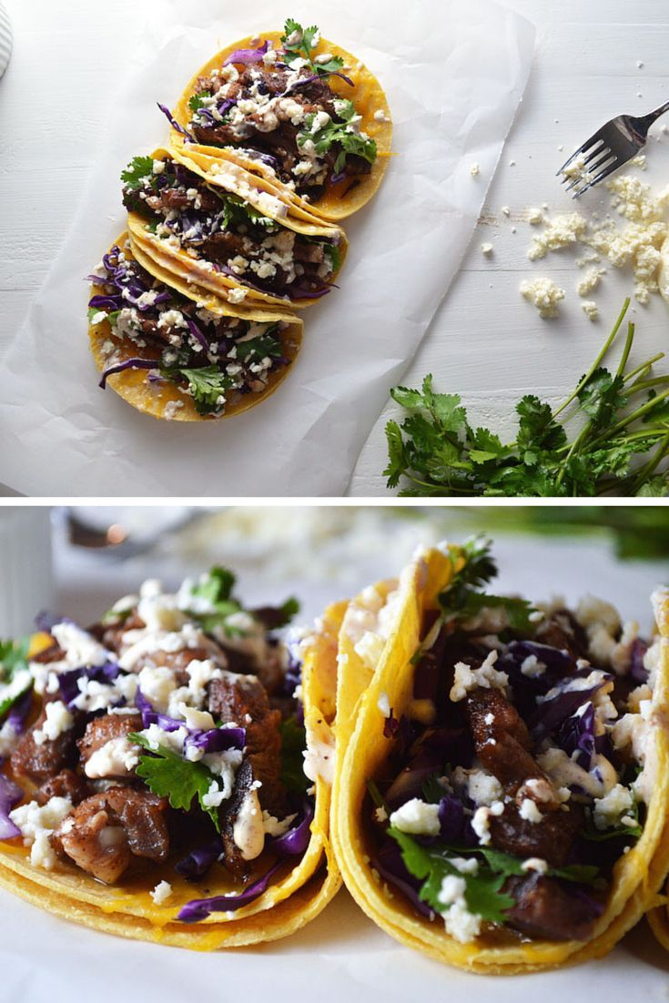 Prime Rib Tacos with BACON CHIPOTLE CREMA. Epic. Just Epic. #ad