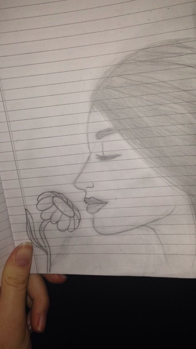 Drawing of a girls face