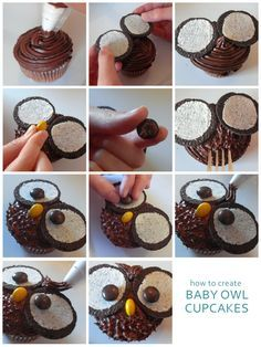 How to Make Owl Cupcakes Tutorial @ Domestic Mamma