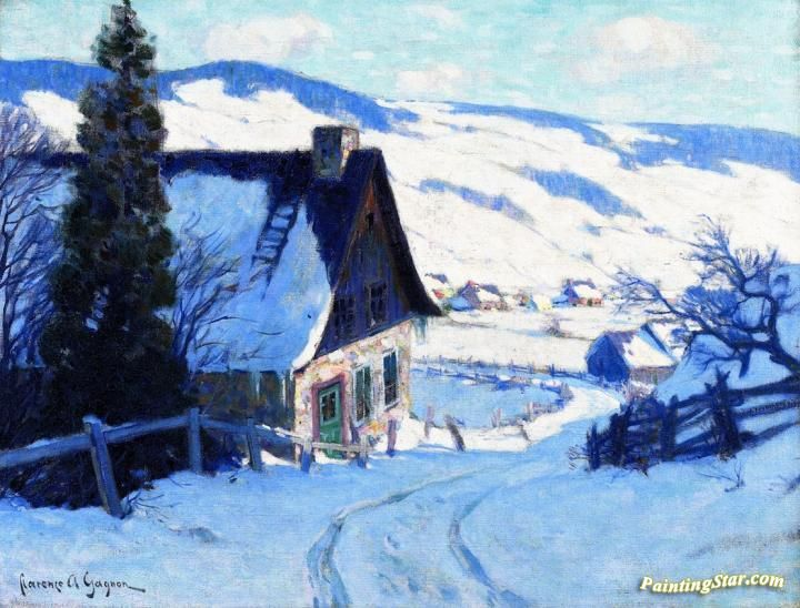 A Farm, Last Rauys Artwork by Clarence Gagnon Hand-painted and Art Prints on canvas for sale,you can custom the size and frame