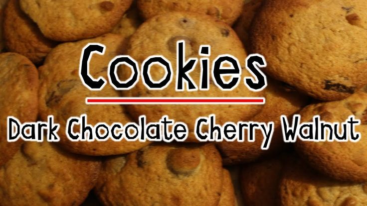 Dark Chocolate Cherry and Walnut Cookies (Millies Cookies Recipe)