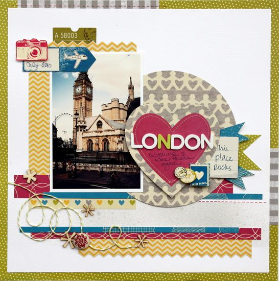 Awesome page by Piradee Talvanna!: Scrapbook Ideas, Scrapbook Travel, Travelscrapbook, Travel Scrapbook Pages, London Scrapbook, London Travel, Papercraft Scrapbook, Scrapbook Layout, American Crafts