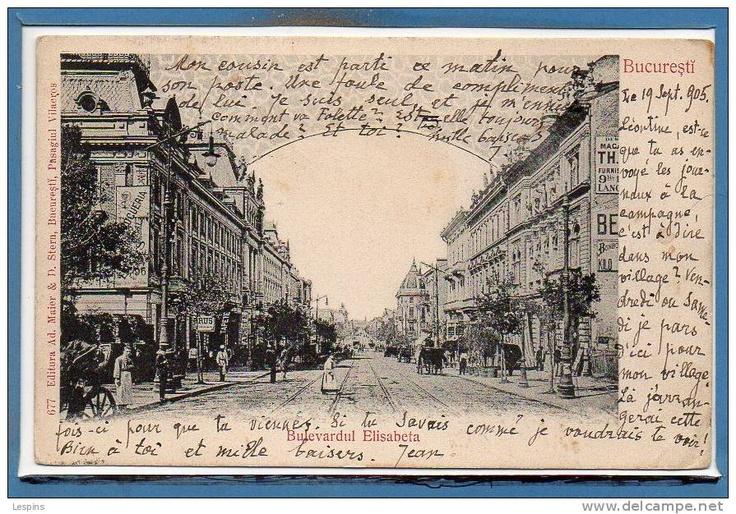 Bucuresti - Bd Elisabeta - 1905