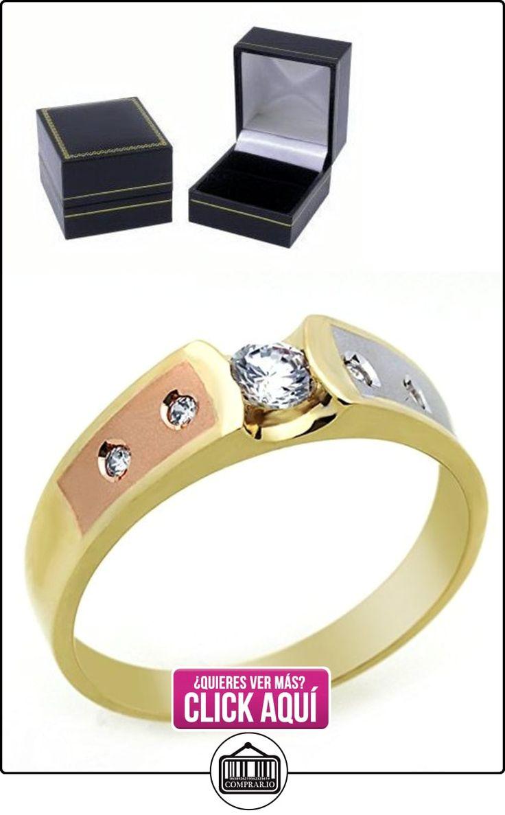 Pequeños Tesoros - Anillo de hombre - Anillo de compromiso y boda de oro 0.3ct Circonita  ✿ Joyas para hombres especiales - lujo ✿ ▬► Ver oferta: https://comprar.io/goto/B00BFX6IWU