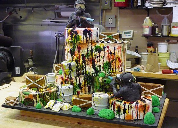 Paintball cake! #paintball #cake #ideas