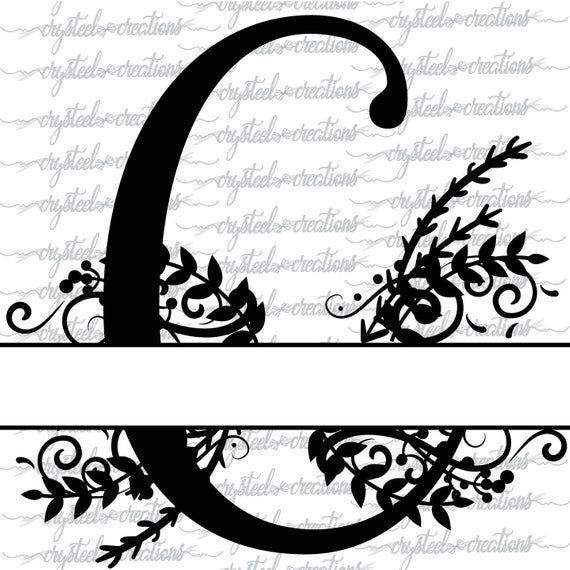 Split Monogram Whole Alphabet Svg Letter Regal Split Alphabet Etsy Embroidery Template Monogram Svg Lettering