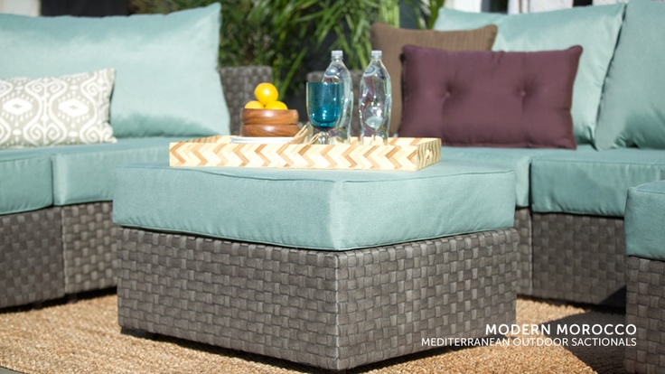5s Outdoor Furniture with Mediterranean Covers #Lovesac