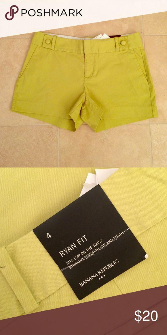 "NWT Banana Republic Lime Green Shorts 4 Cute Line Green Banana Republic ""Ryan Fit"" Shorts. NWT Size 4 Banana Republic Shorts"