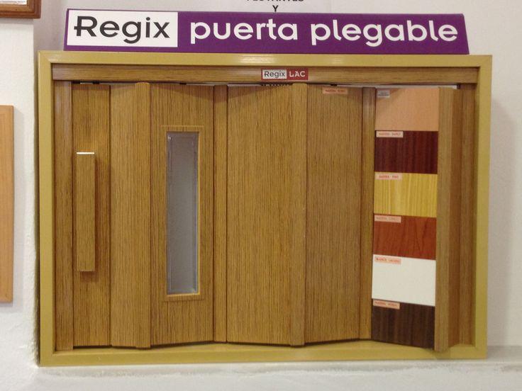 Puertas plegables de pvc lacada y puertas plegables - Puertas plegables madera ...