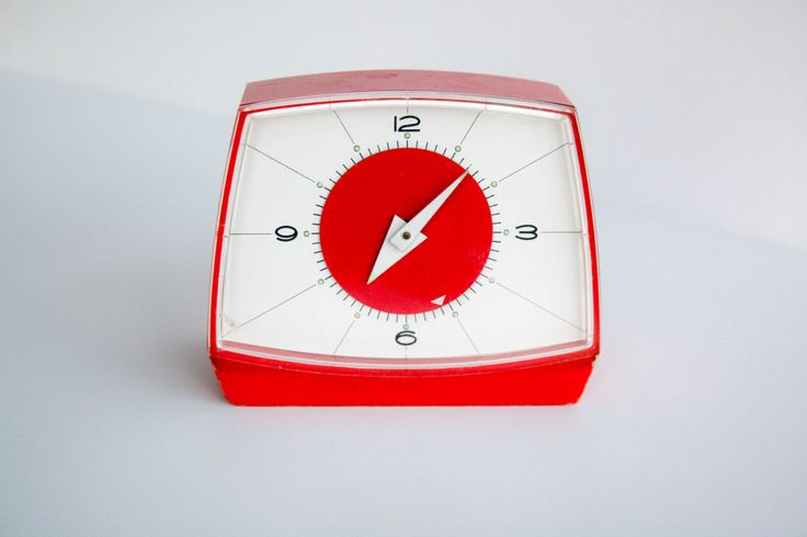 Vintage Alarm Clock 1960's 1970's - red - collectible - by DoubleRandC on Etsy https://www.etsy.com/listing/228438367/vintage-alarm-clock-1960s-1970s-red
