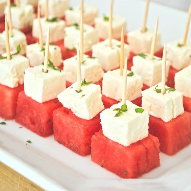 Watermelon Feta Bites   Eats   Pinterest