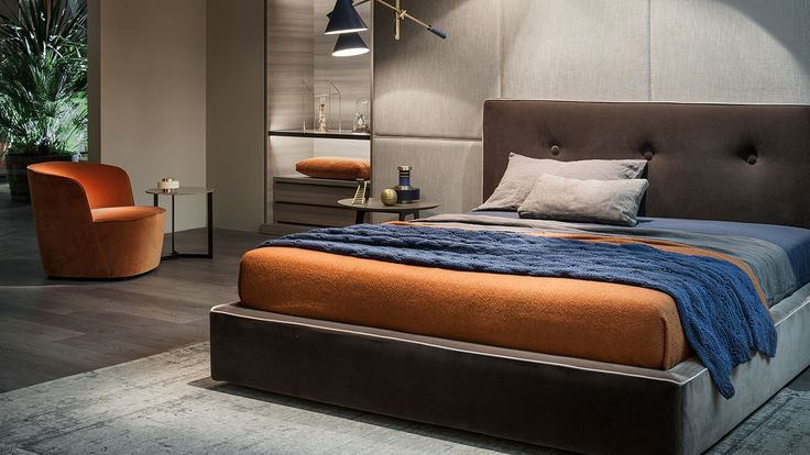 LEMA | Madama bed by Officinadesign Lema stands out for its soft and reassuring shapes, inspiring to utmost relax. An elegant proposal thanks to the care for details typical of the company, common thread of the entire Lema's Home collection.