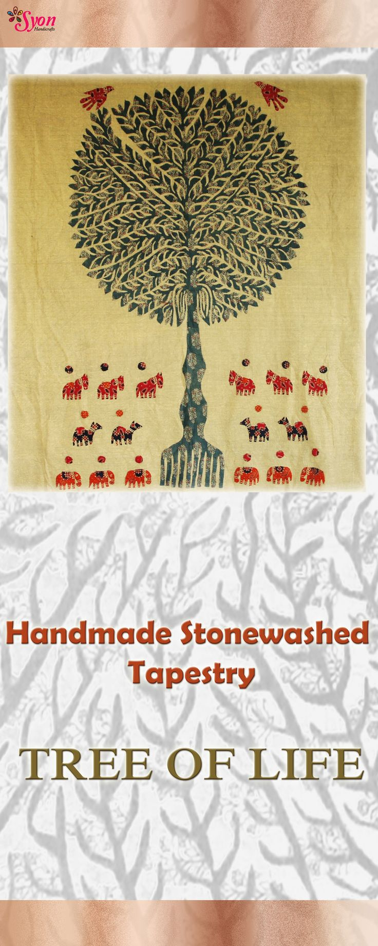 Stonewashed Tapestry - Tree of life !!