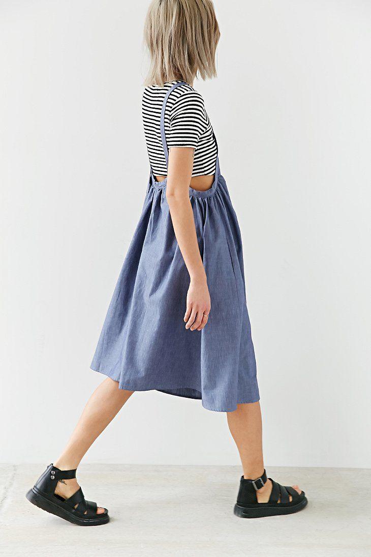 Alice & UO Agnes Apron Midi Dress - Urban Outfitters