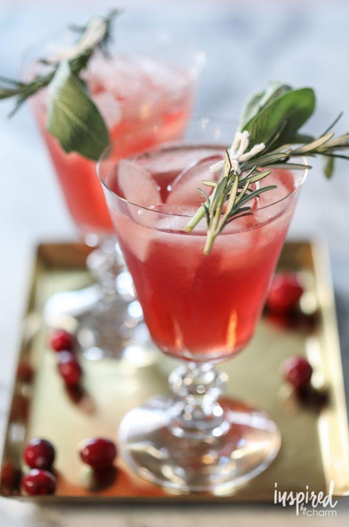 Cranberry Bourbon Cocktail - 10 Christmas Cocktail recipes The
