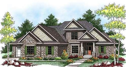 HousePlans.com 70-922: Craftsman House Plans, Craftsman Home Plans, Dream House, Garage, Square, Bedrooms, Bathroom, Craftsman Homes, Dreamhouse
