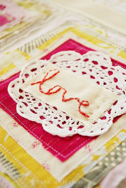 Great idea for scraps - sew a book: Raw Edge, Buckets Lists, Squares, Doilies, Pink Couch, Quilts Blocks, Art Ideas, Art Quilts, Quilts Projects